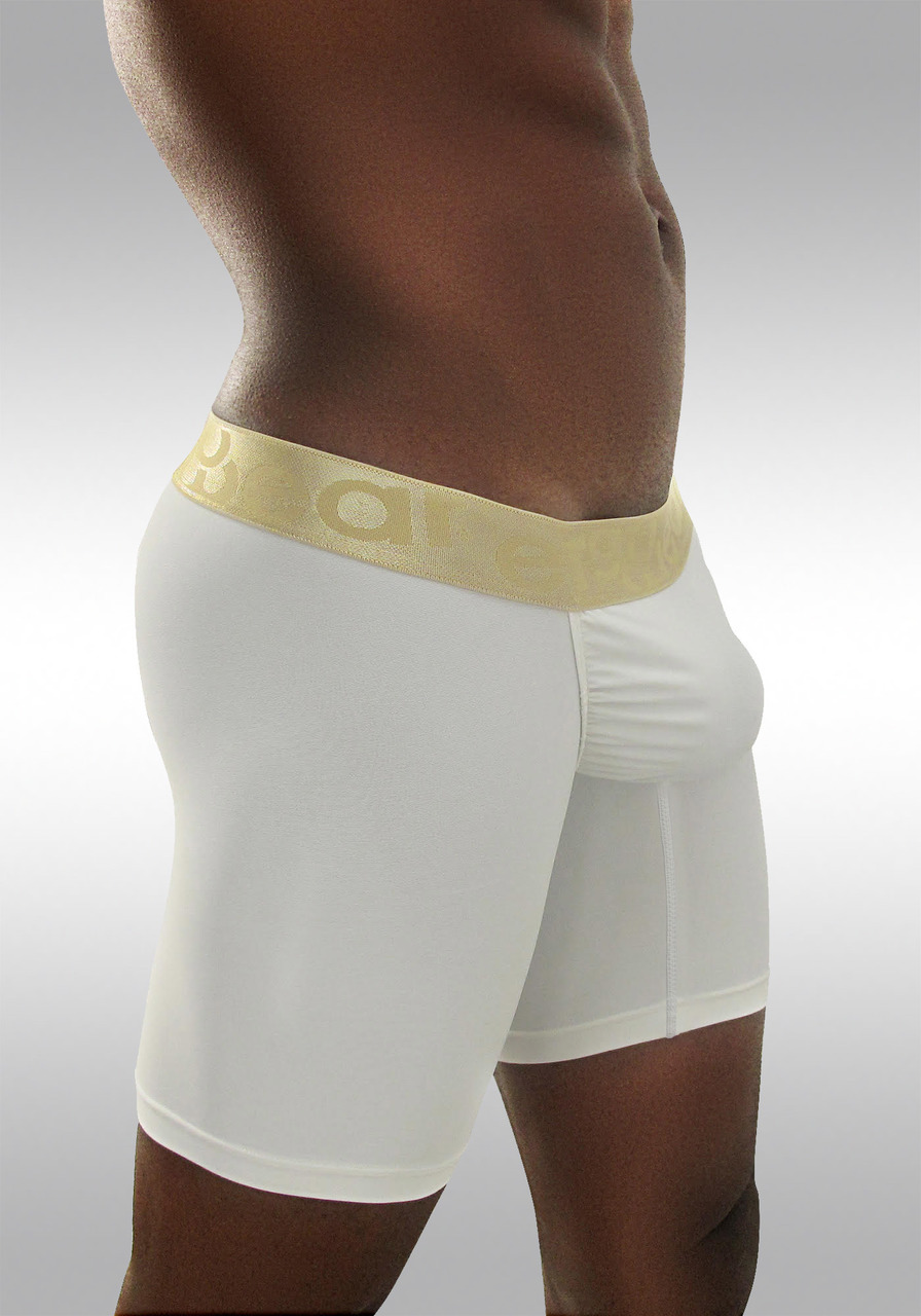 FEEL Classic XV - Men's Pouch Midway Briefs - White/Gold - Side