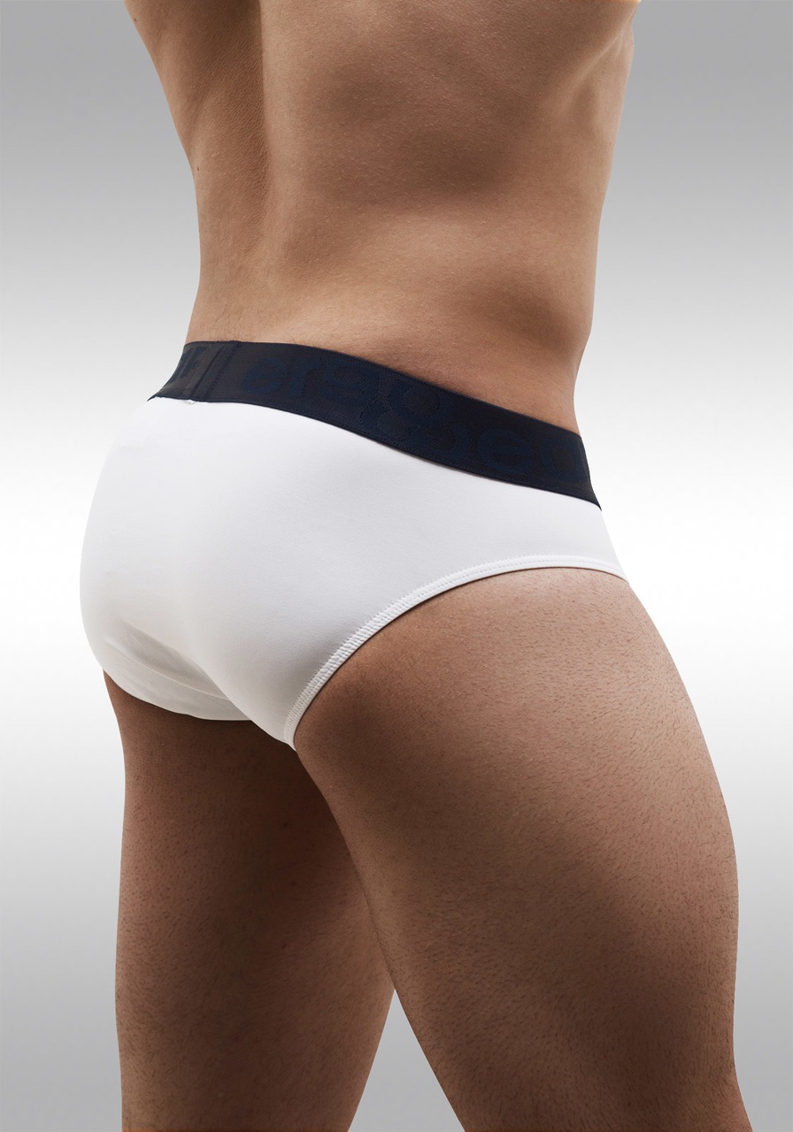 FEEL Classic XV - Men's Pouch Brief - White/Navy - Back