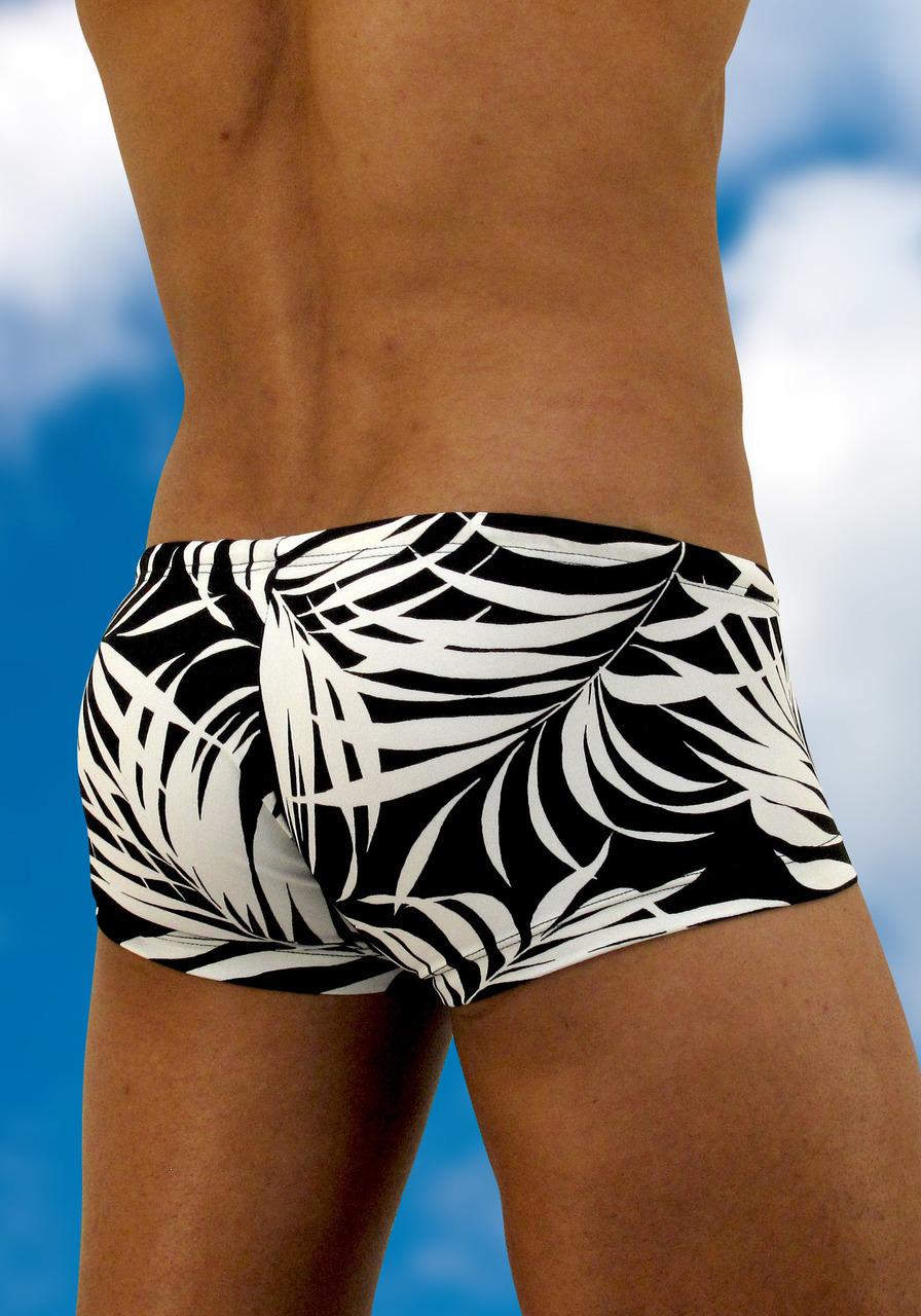 Men's swimwear with pouch FEEL Agiba mini trunk - back view