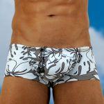 Men's swimwear with pouch FEEL Crete mini trunk - front view