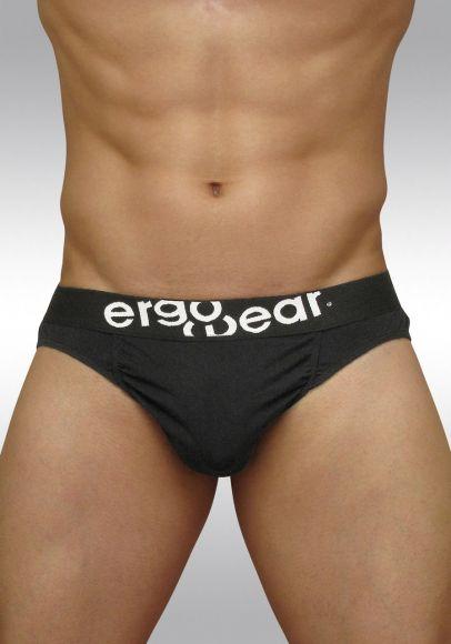 FEEL classic ergonomic men's pouch brief black - front A