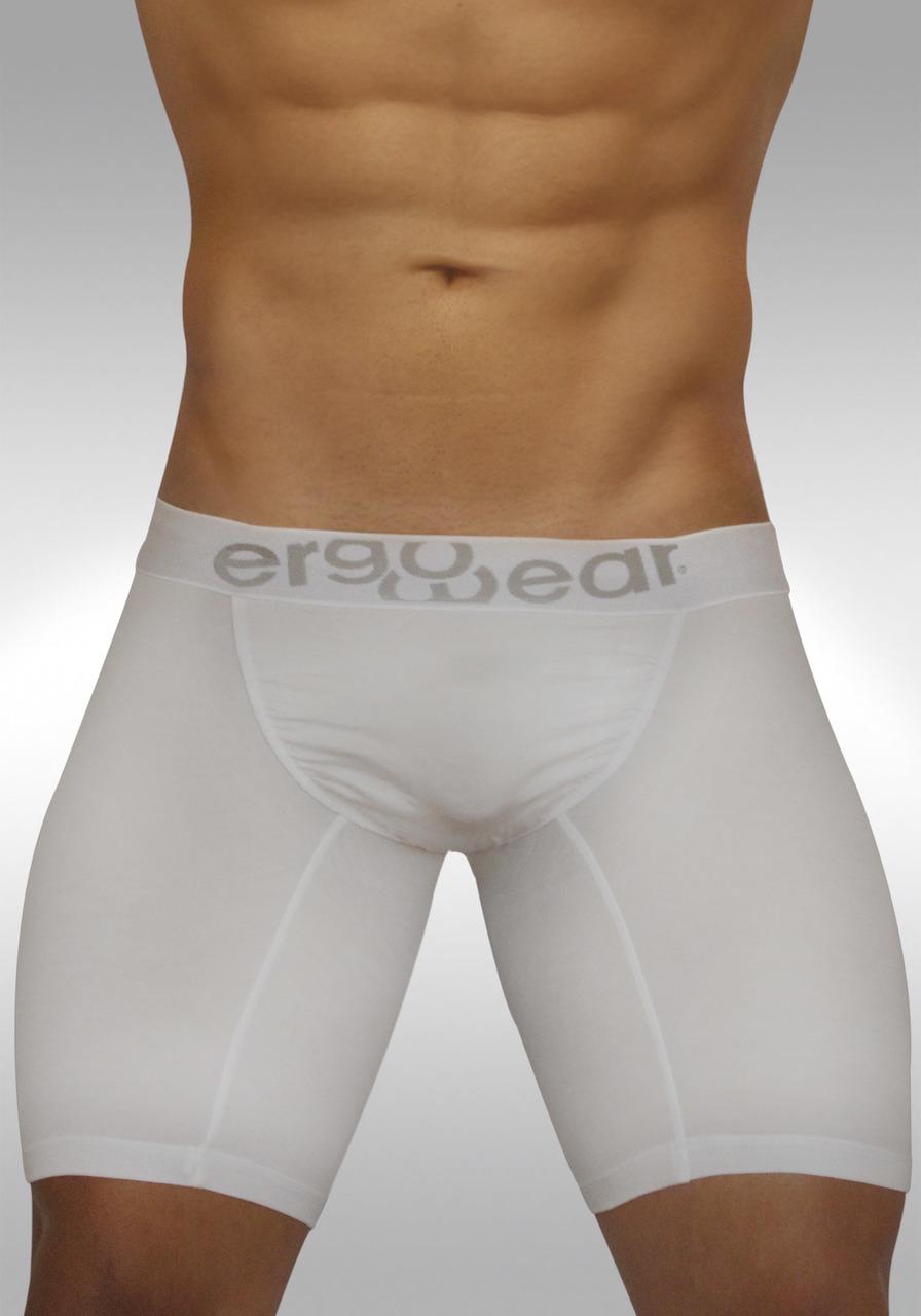 FEEL Modal Ergonomic Long Boxer White - Front view 1