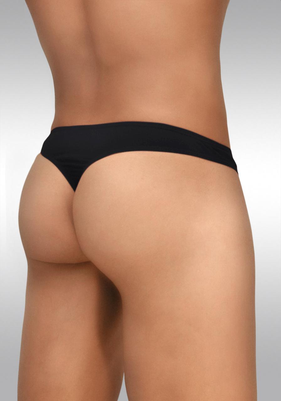 Feel Modal Thong Black - Back View