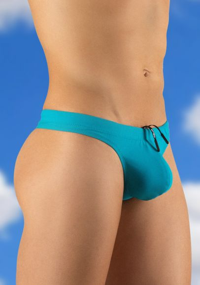 X4D Swim Thong Turquoise - Side View