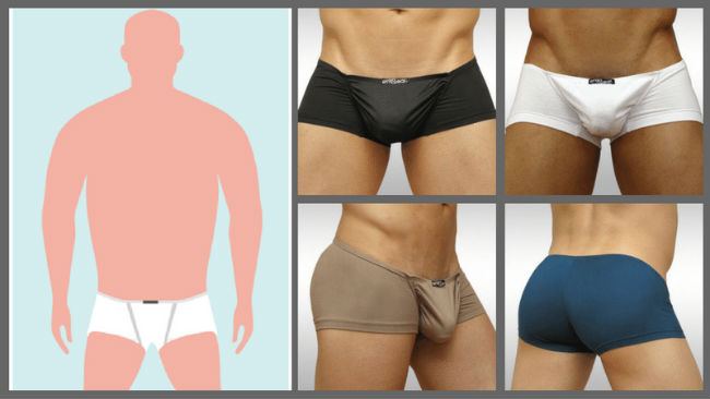 Pouch Underwear for Apple-shaped body types